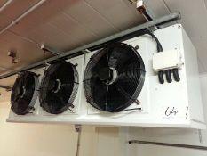 A GUAN FENG GLDFNGZG 3-Fan Evaporator with A GUAN FENG GLDFNGZG 3-Fan, 22.5KW Cold Load, Twin Fan