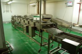 **The SSC CONVEYORS Model SC-1000 Mobile Wire Mesh Cooling Conveyors (2014) comprising Two 600mm