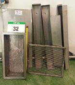 Two Various Stainless Steel Fat Draining Bins, each with Stainless Steel Sieve; An Approx. 1300mm