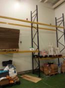 Four Bays LINK 51M 2-Tier Bolted Steel Pallet Racking, Approx. 6000mm x 900mm Uprights, 2700mm