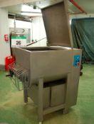 A SHENYANG JIXIANG Model JB-340 340-Litre capacity Twin Screw Meat Mixer, Serial No. 14ADO60201 (