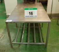 An Approx. 1000mm x 1800mm x 820mm Height Stainless Steel Food Preparation Table
