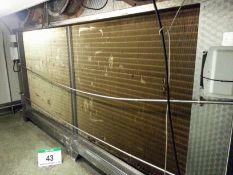 A COOLERS & CONDENSERS Model WA53 Approx. 4M x 2.7M x 1.1M Deep Blast Chiller Unit, Serial No. 12406