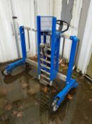 An STS Model DTP04 350Kg capacity Hand Hydraulic Special Purpose Container Hoist Trolley, Serial No.