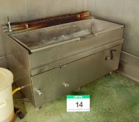 A FIREX 200-Litre capacity Gas Fired Bratt Pan (No Lid), Approx. 560mm x 1490mm x 270mm Internal Pan