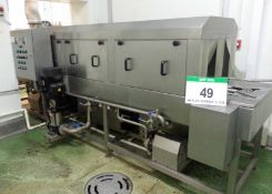 An XXD Model XDT-4880-1 Electric Continuous Tunnel Tray Washing Machine, Serial No. 2912 (2014),