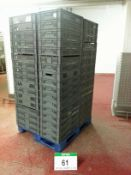Approx. Sixty Eight ALLIBERT Grey Polypropylene Slatted Trays, each Approx. 400mm x 600mm and