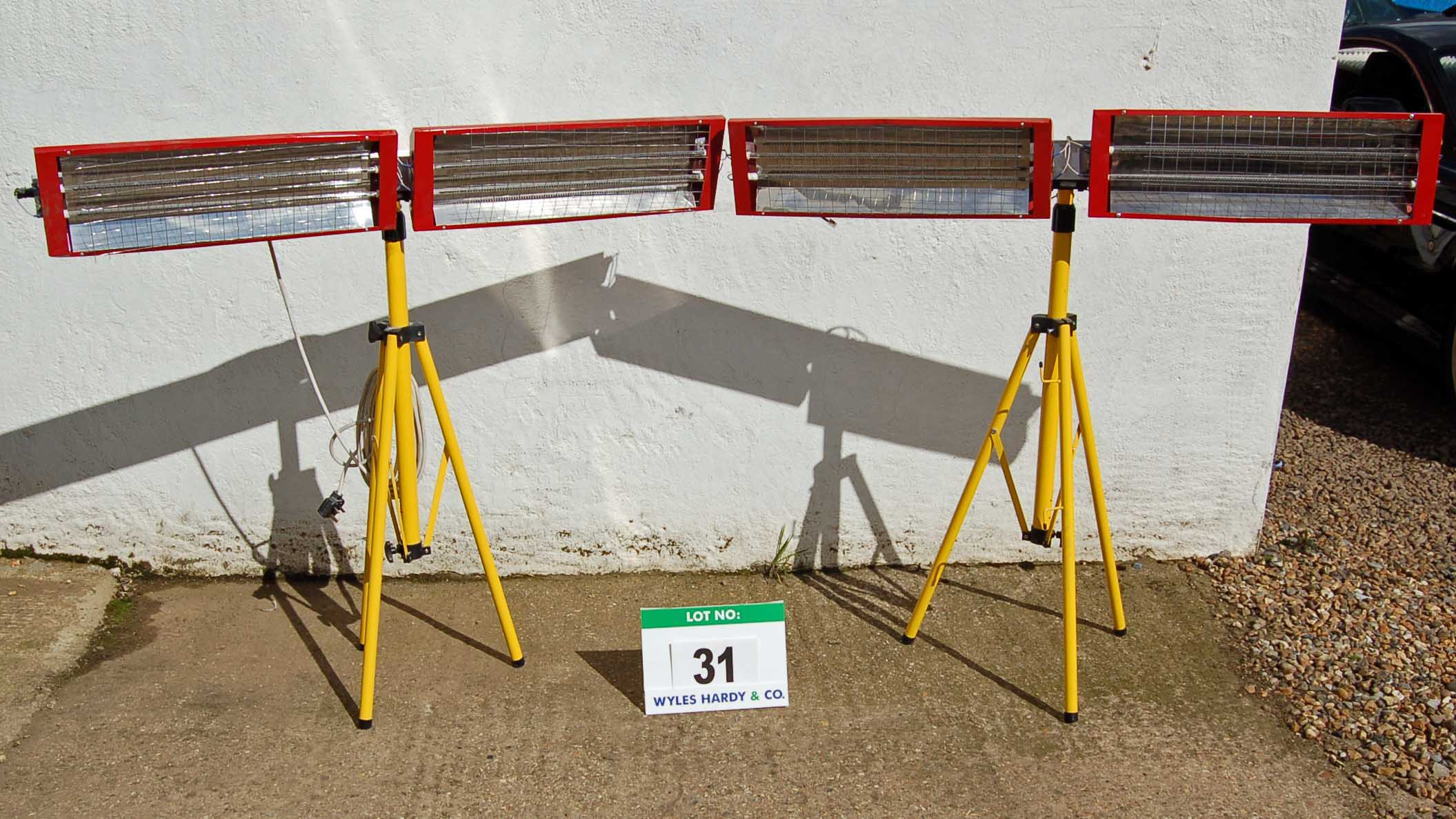 Lot 31 - Two Twinhead Infra Red Paint Curing Units on Tripod Stands (As Photographed)