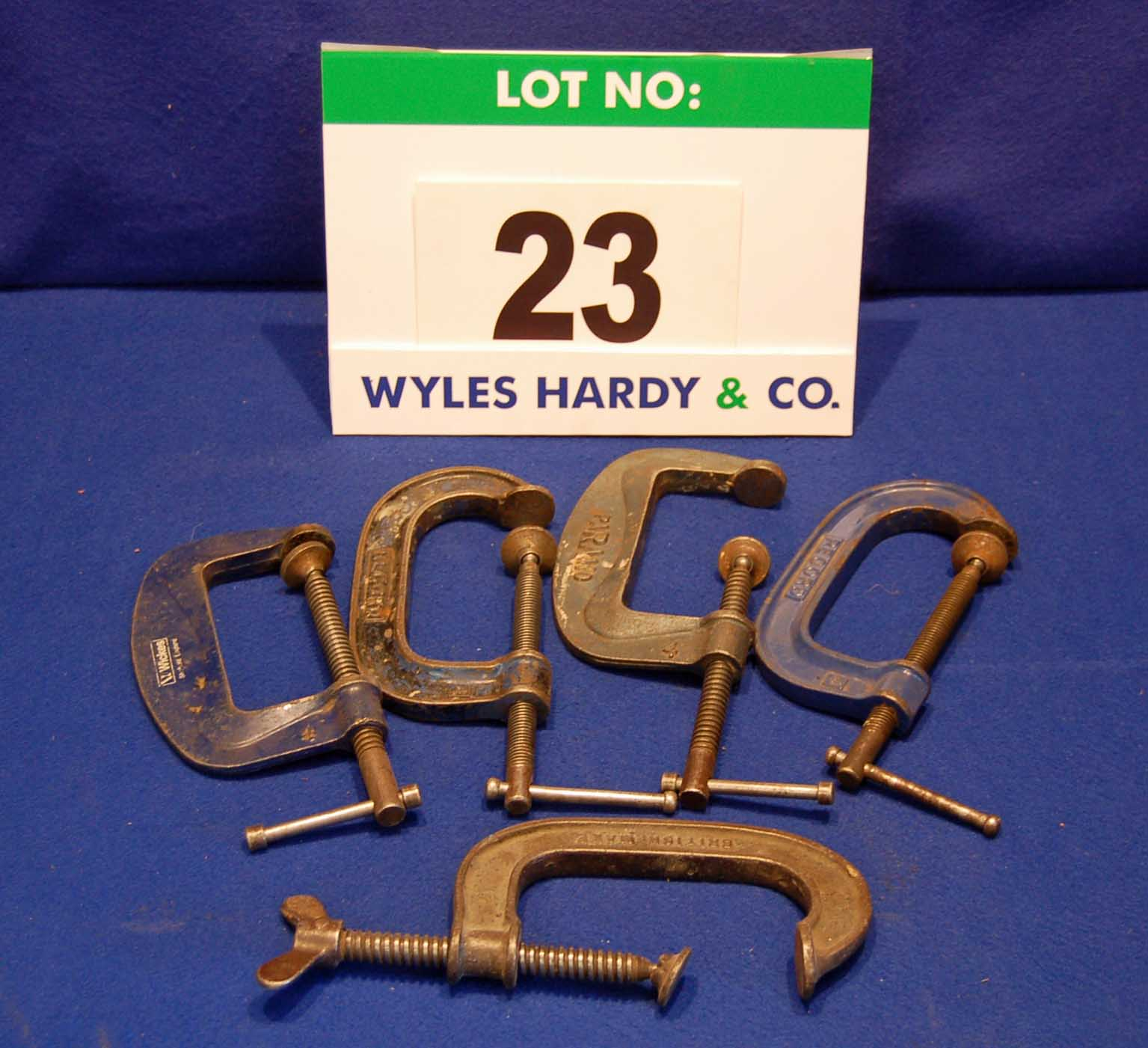 Lot 23 - Five 4 Inch G Clamps (As Photographed)