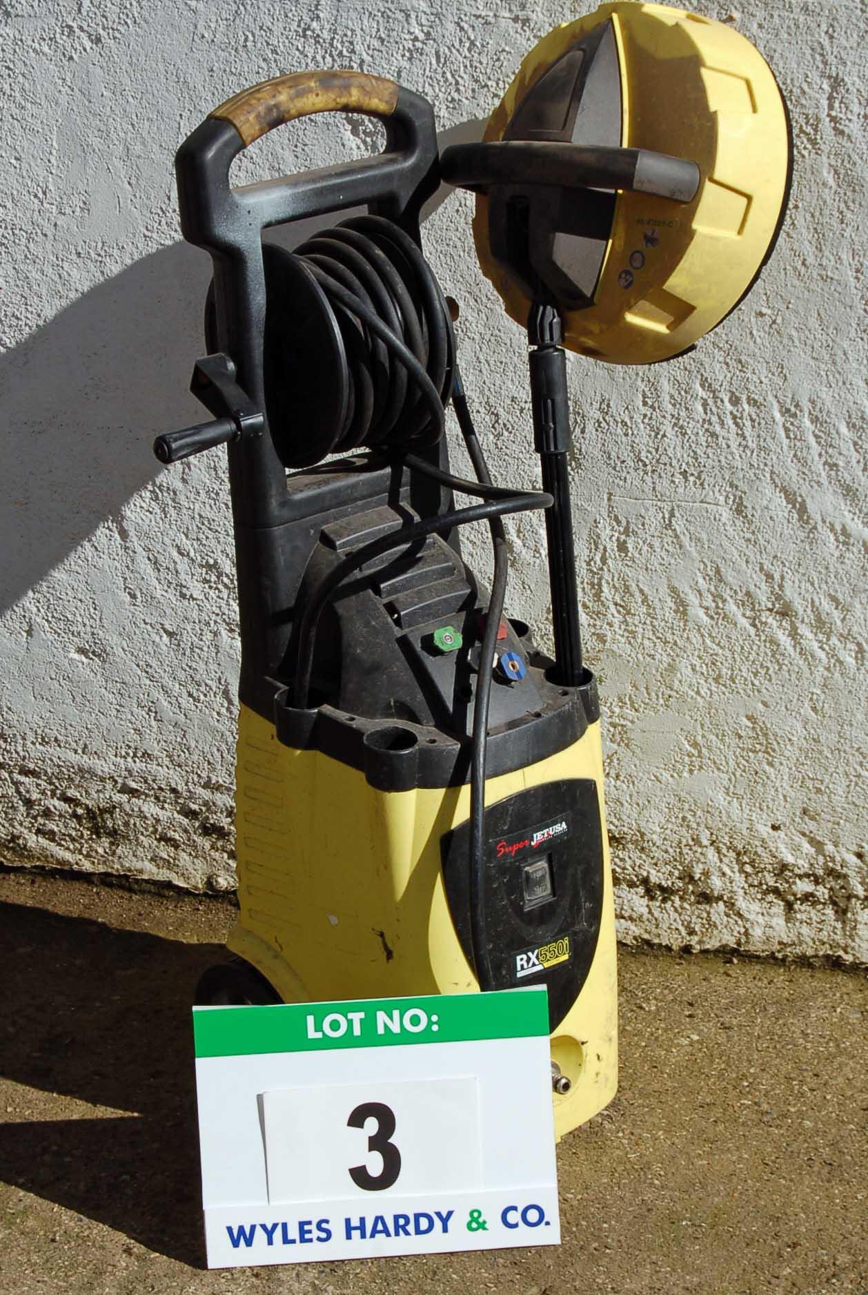 Lot 3 - SUPERJET USA RX550i Mobile Pressure Washer (240V) Note: Lance Missing