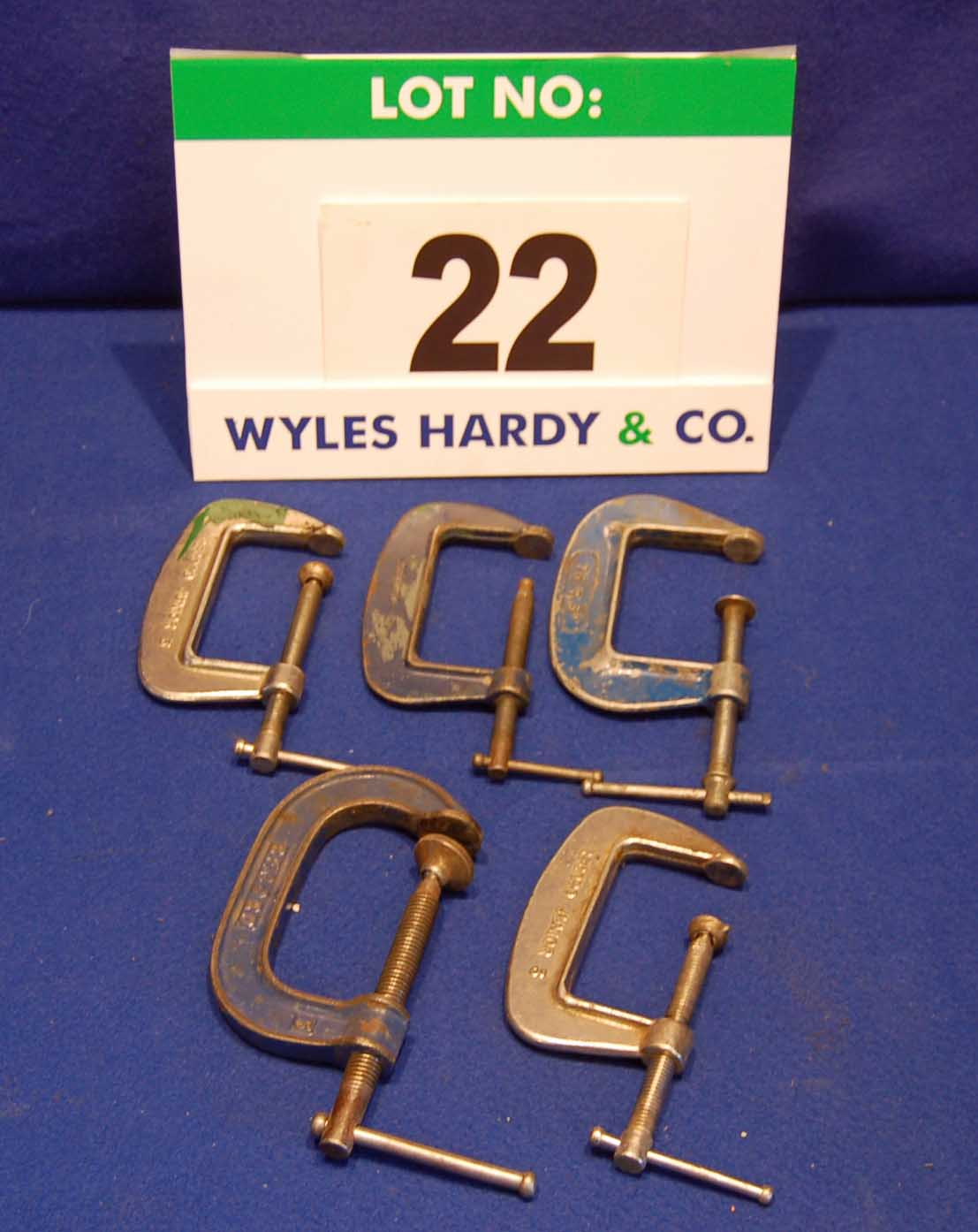 Lot 22 - Five 3 Inch G Clamps (As Photographed)