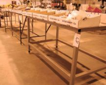 Three 2 Door Steel Tool Cupboards and Three Welded Steel Workpiece Assembly Benches (As
