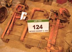 Eight Heavy Duty CARVER Workpiece Clamps (As Photographed)