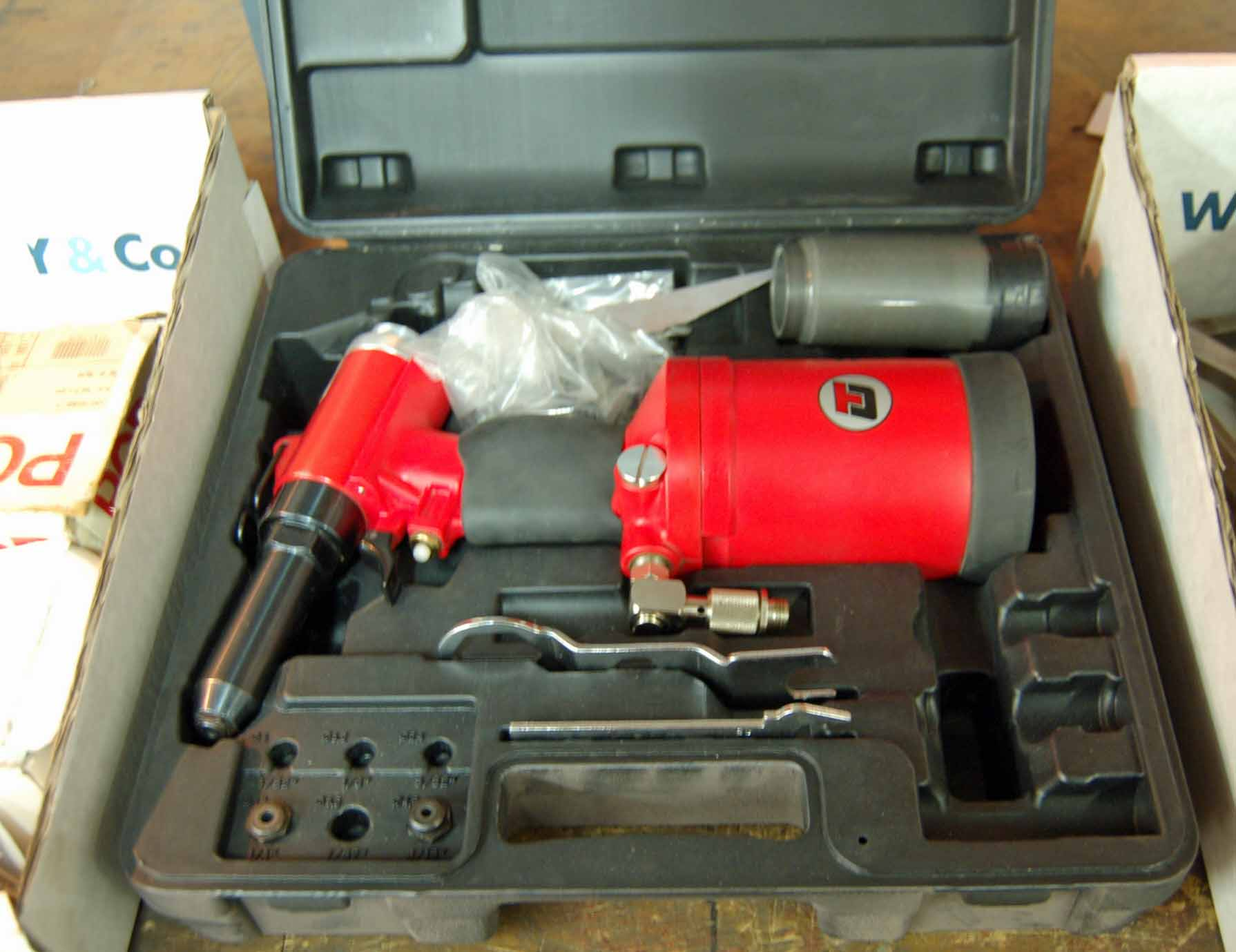 Lot 40 - A TU Pneumatic POP Riveting Set with Associated Consumables and Blow Moulded Case