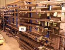 Two Welded Steel Stock Racks (Contents Not Included)