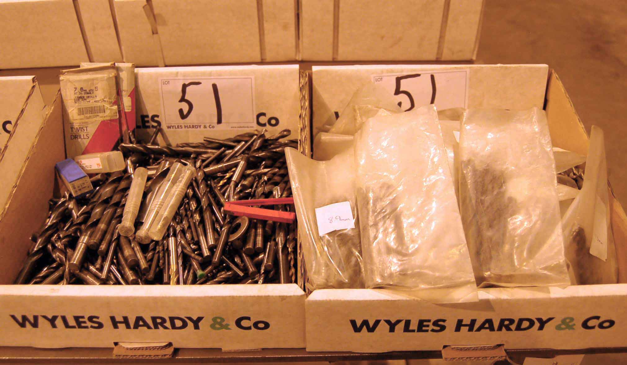 Lot 51 - Two Boxes of Straight Shank HSS Drill Bits (As Photographed)