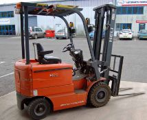 A HELI HFB18 4-Wheel Ride-On Battery Electric Forklift Truck, Serial No. D6432 (2008), 1800Kg