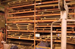 Four Bays of Heavy Duty Pallet Racking. Comprising Six 3.7M Uprights and Fourty 2.7M Beams