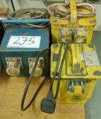 Three 240Volt - 115Volt Site Transformers