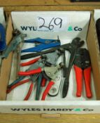 A Box of Wire Cutting and Crimping Tools (As Photographed)