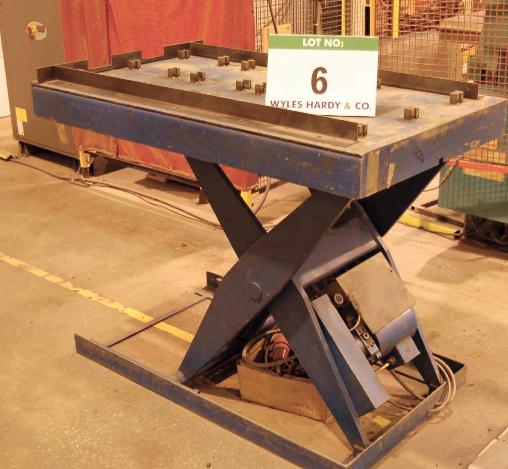 Lot 6 - Ann Electro Hydraulic Scissor Platform Lift with 1300mm x 70mm Table (415V)