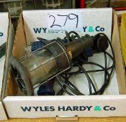 A STEINEL 1600 Watt Heat Gun and a 240Volt Inspection Lamp