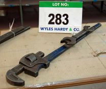 A 3 Foot Stilson Wrench and A Spanner (As Photographed)