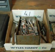 A Box of Miscellaneous Sockets Extension and Allen Keys (As Photographed)