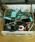 Two WELLER Industrial Bench Top Soldering Iron and Associated Attachments