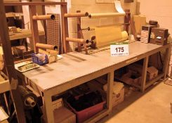 A 3M x 0.9M Welded Steel Packing Bench with Associated Packing Bars and Dispensers