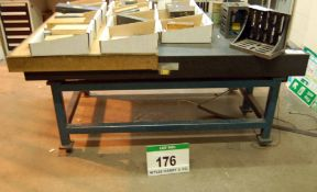 A METROLOGY LTD Granite Surface Table 1850MM x 1250MM Grade 1. Serial No: 1D241 February 2021