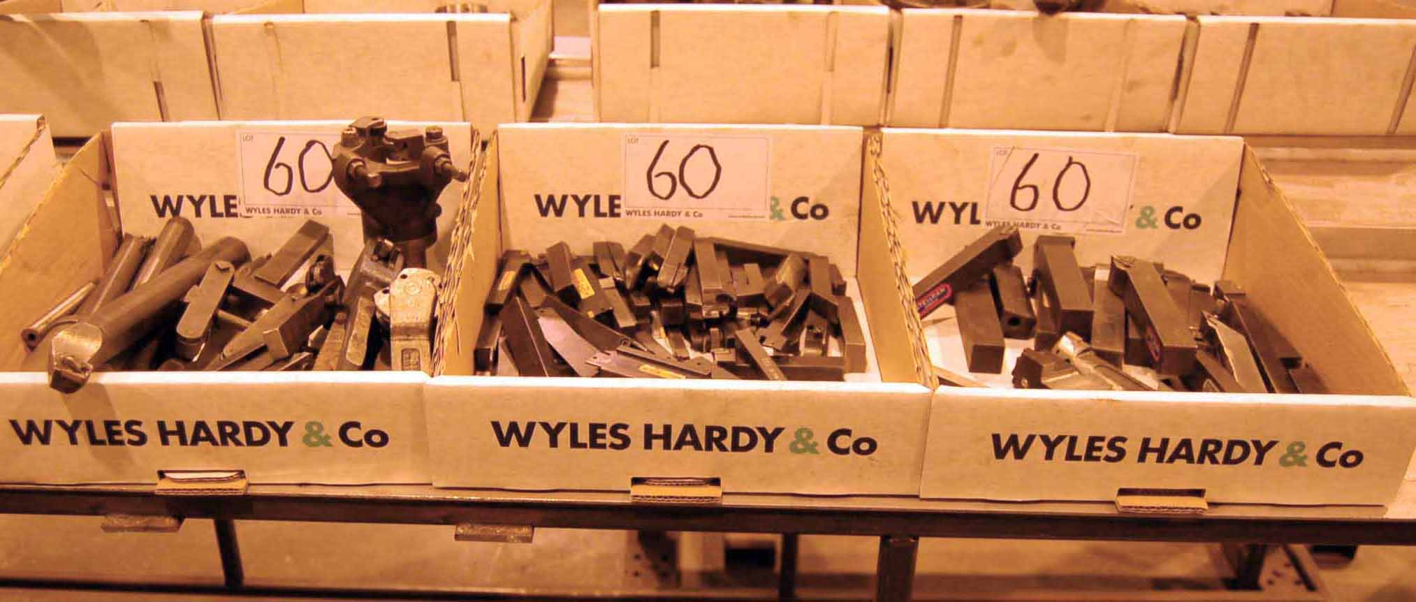Lot 60 - Three Boxes of Lathe Cutting Tools (As Photographed)
