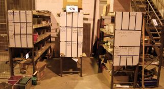 Four Bays of Quick Build Parts Racking Comprising of Eight Uprights, 28 Varying Beams (As