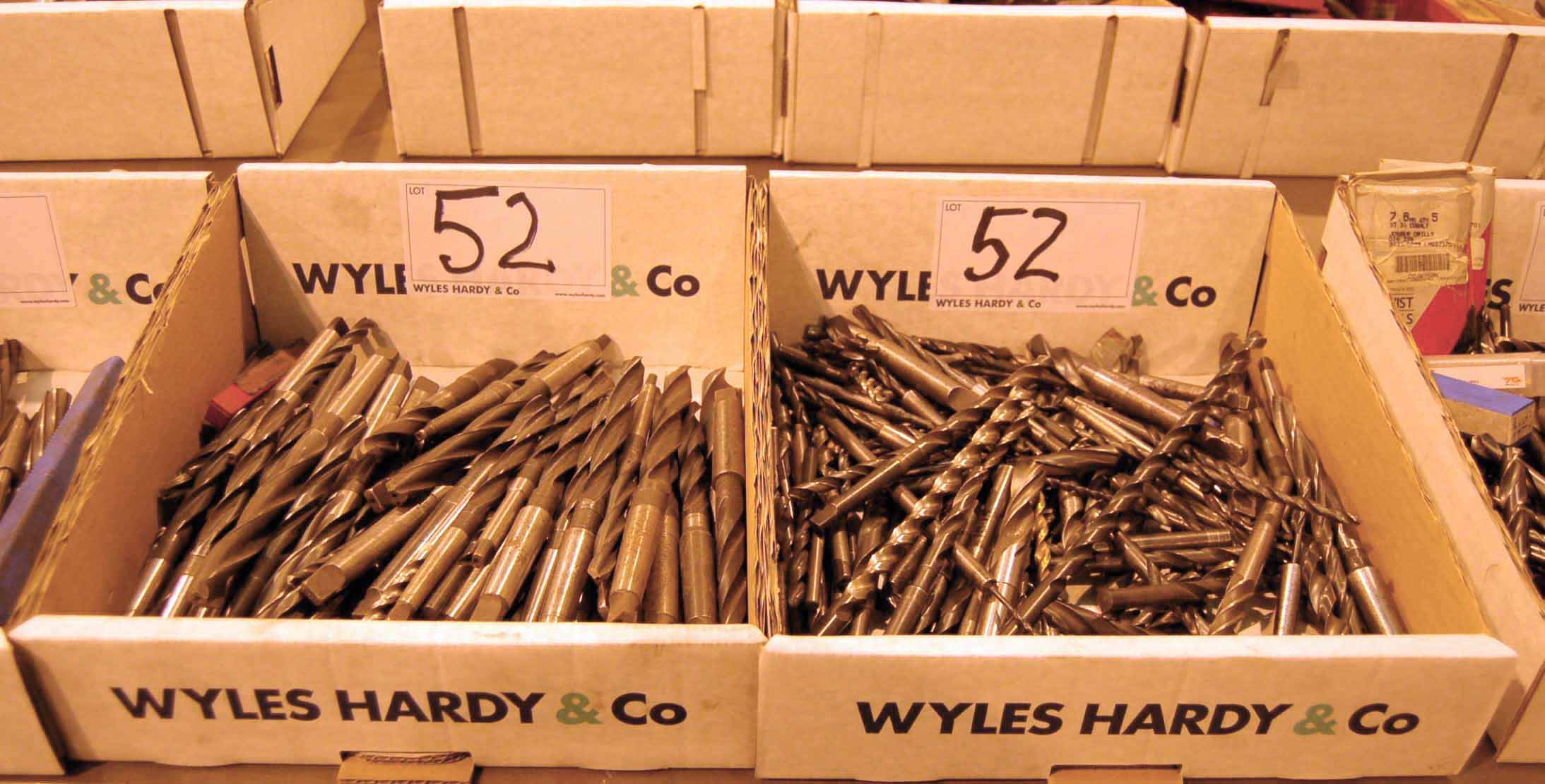 Lot 52 - Two Boxes of Tapered Shank HSS Drill Bits (As Photographed)