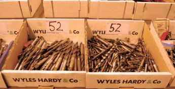Two Boxes of Tapered Shank HSS Drill Bits (As Photographed)