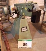 A BM 75mm Horizontal Pedestal mounted Belt Linisher