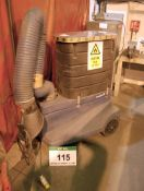 A NEDERMAN Filter Cart Mobile Fume Filtration Unit with Articulating Arm, Serial No. 12613245 (