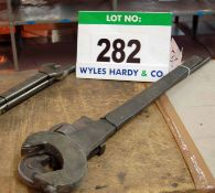 A 3 Foot Stilson Wrench and 2 Spanners (As Photographed)