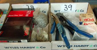 Two Boxes of POP Riveting Equipment Including A Box of Unused POP PIVTIIO and A Riveting Set (As