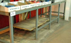 Three Welded Steel Workbenches 1600mm x 800mm, 2000mm x 1000mm and 4000mm x 1200mm