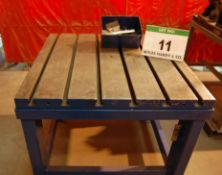 A 1060mm x 1060mm x 950mm height Cast Iron T-Slotted Workpiece Table