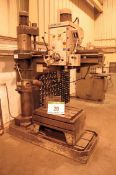 A RICHMOND ENVOY 4ft Rising Head, Radial Arm Drilling Machine with 760mm x 570mm T-Slotted Table and