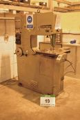 A STARTRITE 314 H Vertical Metal Cutting Band Sawing Machine, Serial No. 19197 with 2ft Throat,