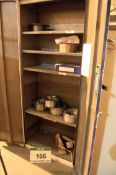 A Two-Door Steel Temperature Controlled Welding Consumables Cupboard. Five Rolls of Welding Wire and