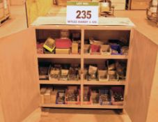 A 2 Door Steel Storage Cabinet and Metric Nuts, Bolts and Washers (As Photographed)