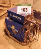 A CEMONT Mig 31 300-Amp Mig Welding Power Transformer, Serial No. TH782684 with A CEMONT UTF 2.31