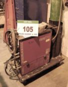 A TETRIX 350 AC/DC Tig Welding Power Transformer with A Cool 71 UB4 Cooling System on Trolley (