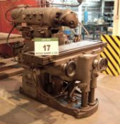 A HURON KU5 Ram Head Milling Machine, Serial No. 6026 with 1630mm x 400mm Table, Powered Feeds and