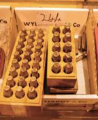 A Box of Number and Letter Cold Stamp Punches (As Photographed)