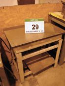 A 3ft x 2ft Steel Surface Table on Steel Stand